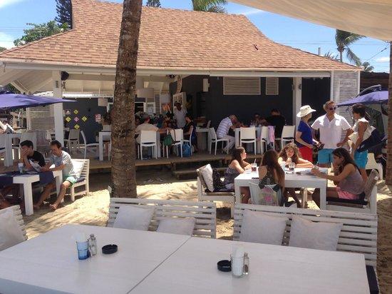 Eze Beach Bar Restaurant: Vista dalla Spiaggia