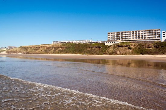 Elizabeth Oceanfront Suites: View from the beach