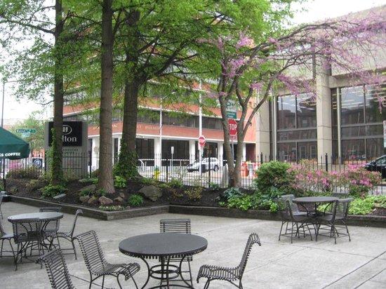 Hilton Knoxville : Patio area