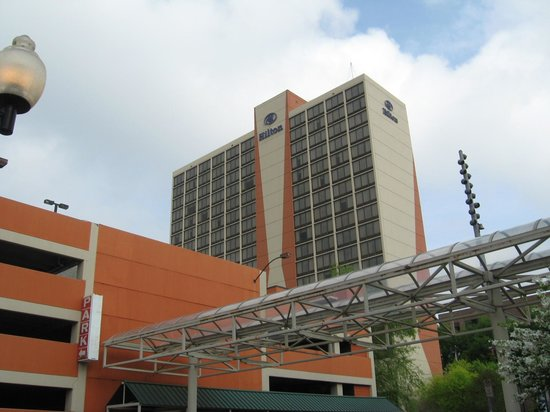 Hilton Knoxville: Exterior from street corner