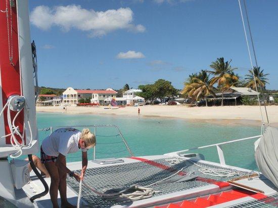 Lambada & Tango: glorious empty beach at Anguilla from the boat