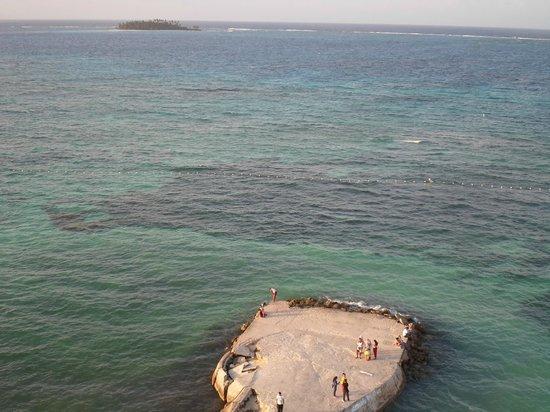 Hotel Calypso : Vista desde el piso nueve, restaurante.