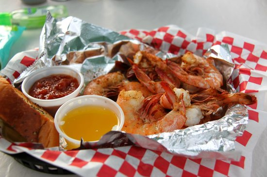 Seafood Atlantic : Small serve of the local shrimp.  Delicious!