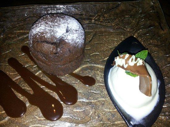 Santoku : Chocolate fondant in japanese restaurant!