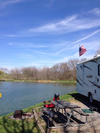 Walnut Hills Campground and RV Park: April 2014 at Staunton Walnut Hills KOA