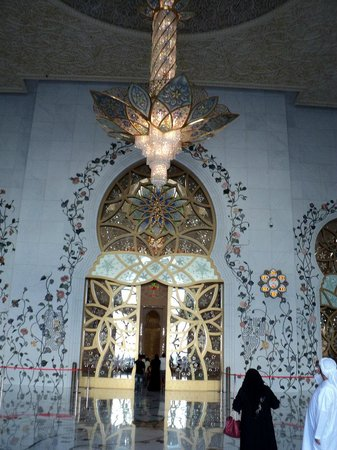 Mosquée Cheikh Zayed : Люстра при входе