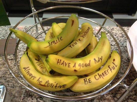 Hampton Inn & Suites Buffalo Airport: Even the Bananas are Happy!