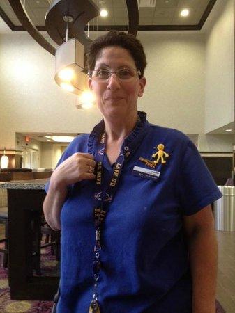 Hampton Inn & Suites Buffalo Airport: JoAnne is always happy!
