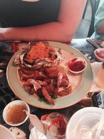 Snook Inn : Shrimp and sweet potato