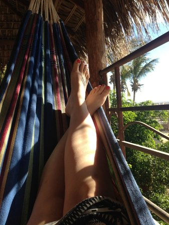 The Bungalows Hotel: Private hammock