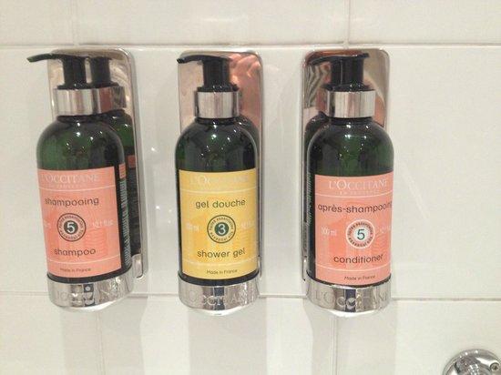 Hotel Estherea : Produtos de banho L'Occitane