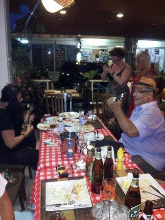 Yanis & Vana @ Pattayanis Greek Taverna playing the bouzouki.