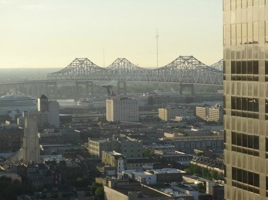 Hyatt Regency New Orleans: view of river from 32nd floor