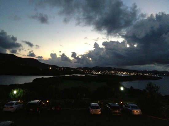 The Buccaneer St Croix: Sunset from The Terrace Restaurant