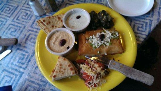 My Big Fat Greek Restaurant - Arizona Center: Combination appetizer plate - yum!