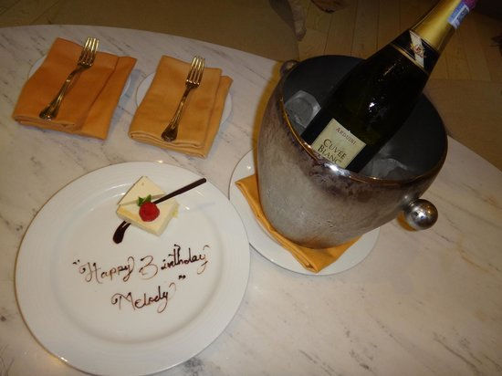 Secrets The Vine Cancún: Brought to our room, courtesy of our butler for my girlfriend's birthday