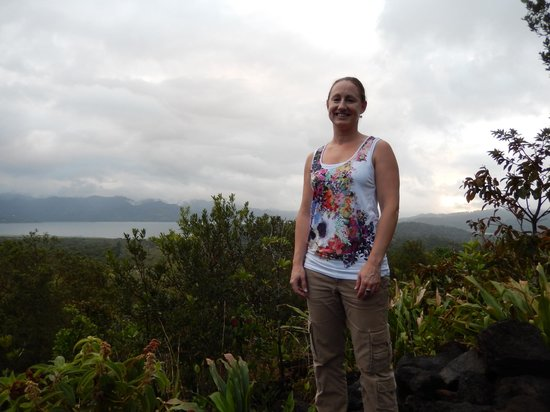 Arenal Volcano (Volcan Arenal) : Standing on the lava fields