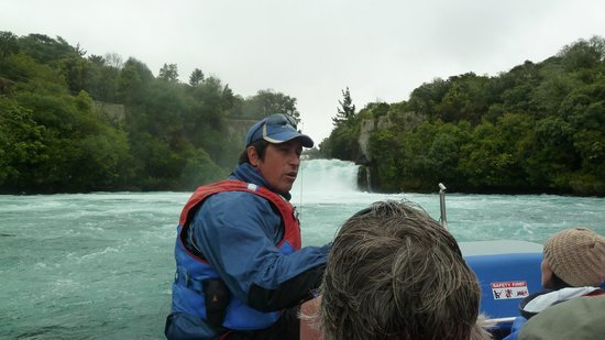 Our Hukafalls Jetboat driver Jeremy