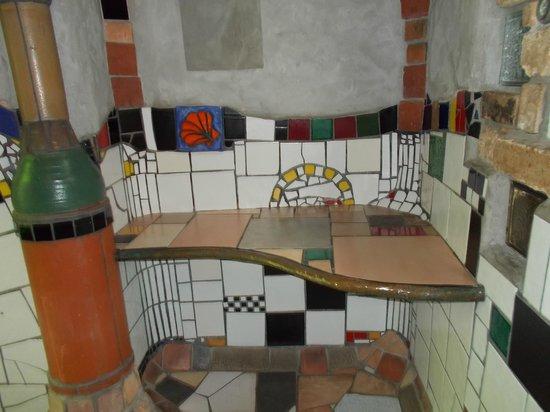 Kawakawa Public Toilets by Hundertwasser : On the ladies' side.