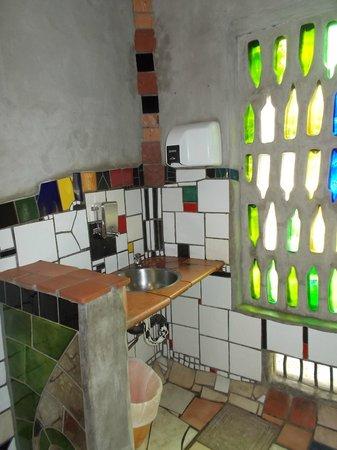 "Kawakawa Public Toilets by Hundertwasser : ""Stained glass windows!"""