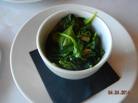 Hooked: garlicky spinach