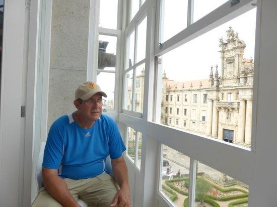 Pension Acibeche: Sitting at the balcony table
