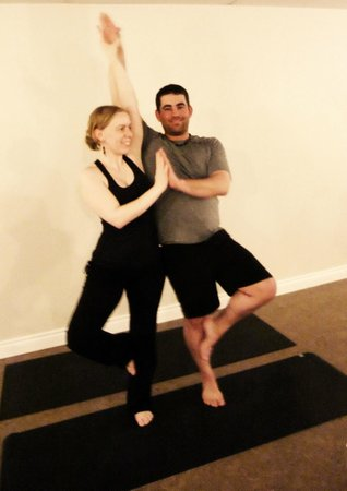 Pura Vida Soul Institute: Owners Jenn & Josh demonstrating a couple's pose