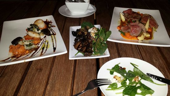 18 degrees: Well presented delicious food