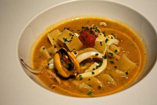 Il Ridotto : Fish soup with mix pasta