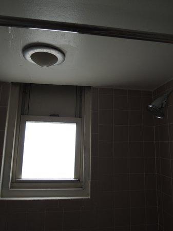 Churchill Hotel Near Embassy Row: Shower light not flush against ceiling