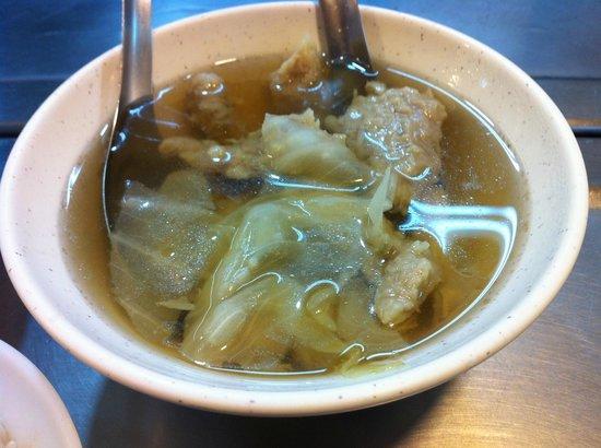 Keelung Miaokou Night Market: Stall #19 - 肉羹湯 Meat soup...