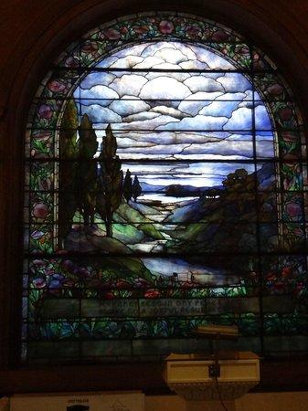 Woodland Cemetery & Arboretum: tiffany glass