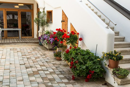 Weingut Franz Schindler: Courtyard & stairs to rooms