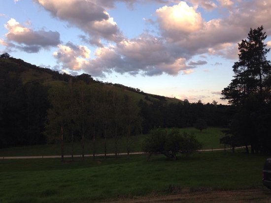 Tristania Tops Barrington: View from dairy cabin at sunset