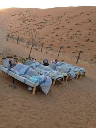 Desert Retreat Camp: We relocated our beds from the tents