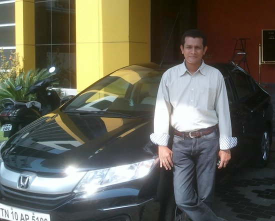 Hotel Annamalai International: my new honda city...