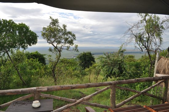 Kilima Camp : View from tent balcony onto the mara river