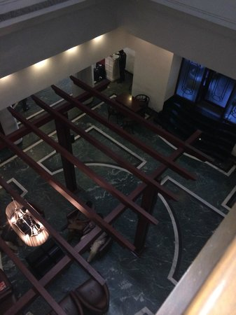 The Central Court Hotel: View of Atrium & Lobby from the Second Floor