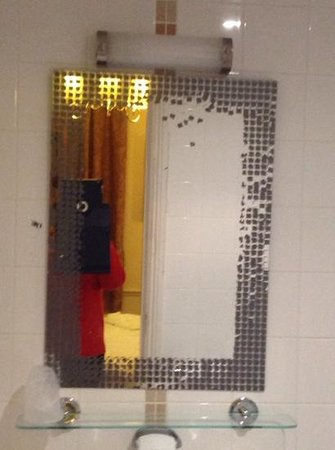original white hart : bathroom mirror