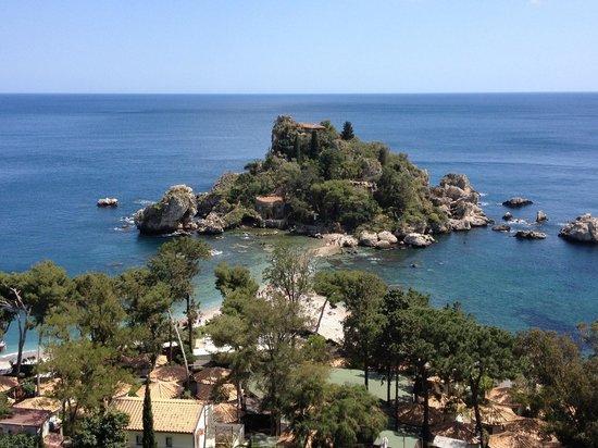 Hotel Isola Bella: Vue de la chambre