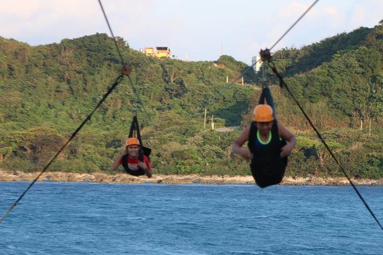 Hannah's Beach Resort and Convention Center: dual zipline