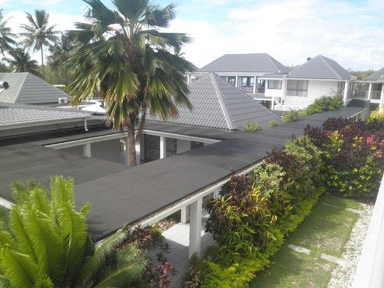 Muri Beach Club Hotel: View from garden room