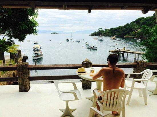 Favela Chic Hostel: Vue de la terrasse pendant le petit déjeuner !