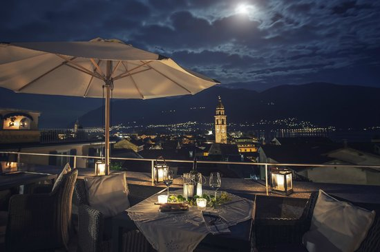 Art Hotel Riposo: La cena in terazza
