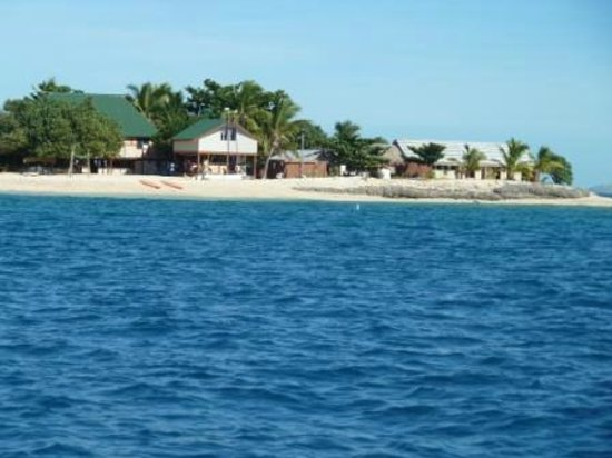 South Sea Island Accommodation: Looking onto South Sea Island from the ferry