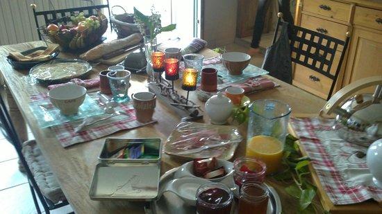 Secret d'une Nuit Chambres d'hôtes : le petit dejeuner
