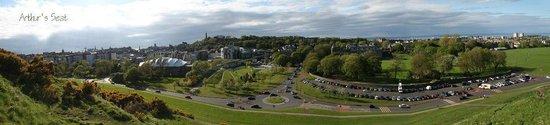 """Holyrood Park : Панорама вида с Горы """"Седло Артура"""""""