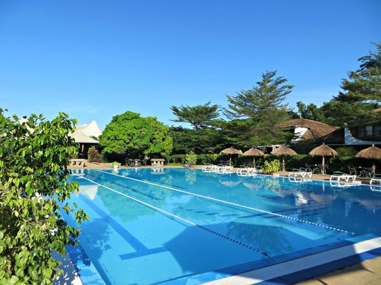 Hotel Club du Lac Tanganyika : The hotel swimming pool