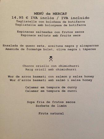 Boo Restaurant : Menú con muchas faltas ortográficas. En vez de chorizo ponen chorro (y lo traducen literalmente