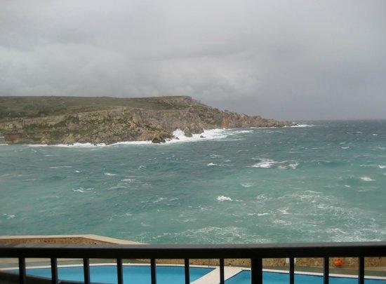 Paradise Bay Resort Hotel: Wintersturm auf Malta